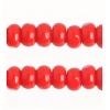 Cut 11/0 Opaque Medium Red Strung